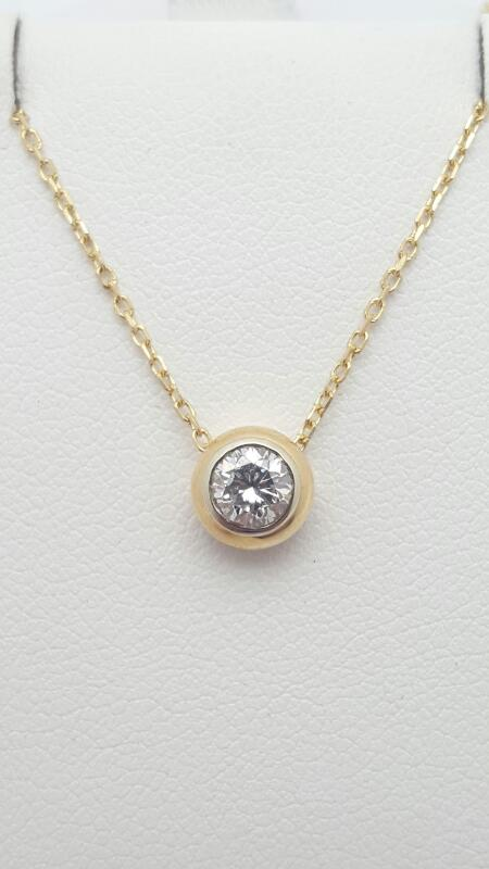 Diamond Necklace .38 CT. 14K Yellow Gold 2.2g