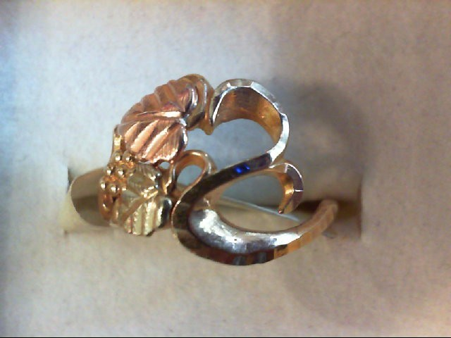 Lady's Gold Ring 10K 2 Tone Gold 1.9g Size:5.5