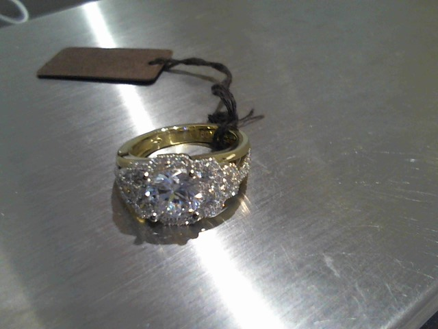 Lady's Gold Ring 18K Yellow Gold 9.6g