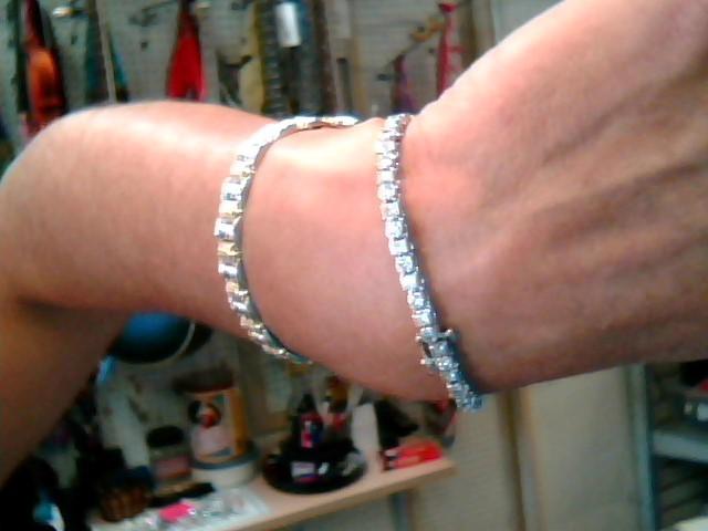 Gold-Diamond Bracelet 52 Diamonds 5.20 Carat T.W. 14K White Gold 9.95dwt