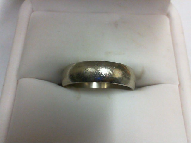 Lady's Gold Ring 14K White Gold 4.6g Size:7.5