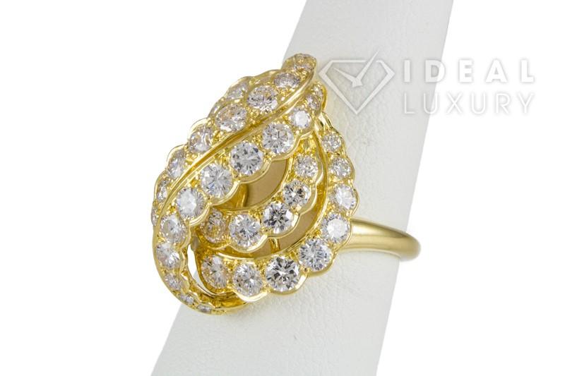 $25,000 Vintage Van Cleef & Arpels 18k Yellow Gold & Diamond Ring VCA France