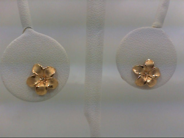 Gold Earrings 14K Yellow Gold 1.3g