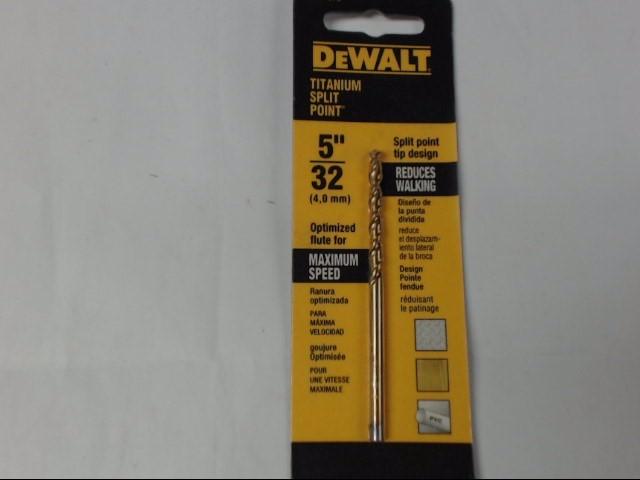 """DEWALT DW1376 5/32"""" DRILL BIT"""