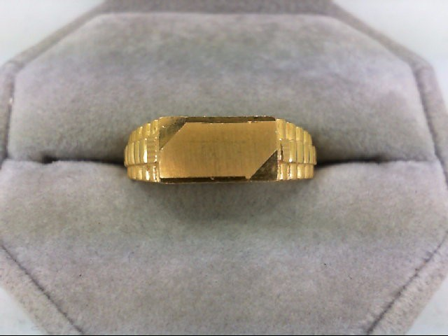 Gent's Gold Ring 22K Yellow Gold 7.7g Size:9