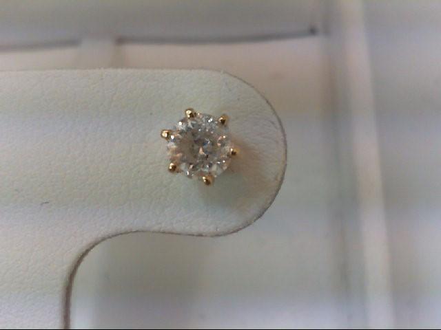 Gold-Diamond Earrings .40 CT. 14K Yellow Gold 1g