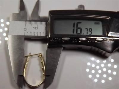 Gold-Diamond Earrings 24 Diamonds .24 Carat T.W. 14K Yellow Gold 7.15g