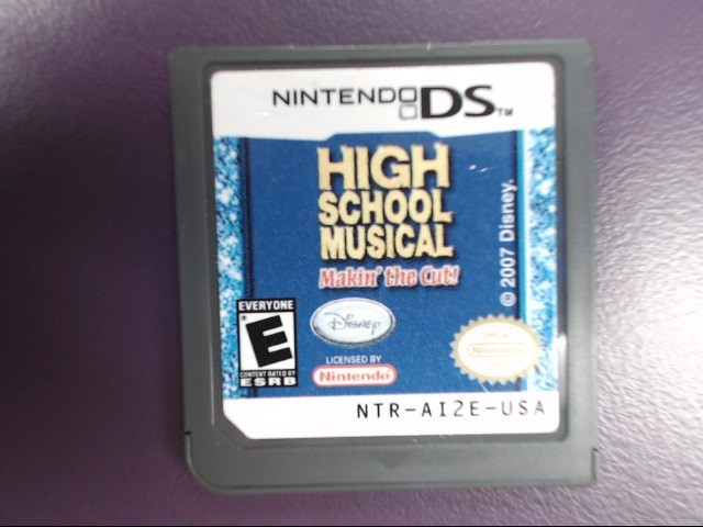 High School Musical: Makin' the Cut! (Nintendo DS, 2007) Game Only!!