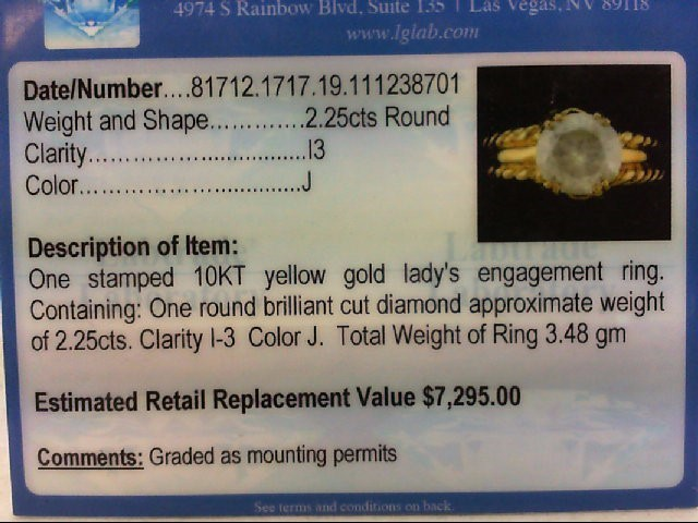 LDS 2.25CT RING S.5