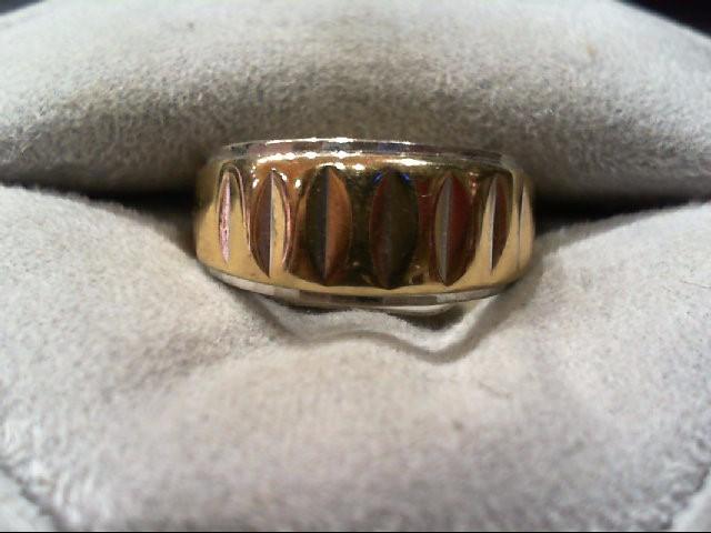 Lady's Gold Wedding Band 14K 2 Tone Gold 5.1g Size:6