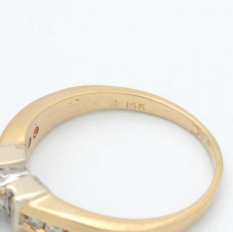 ESTATE DIAMOND RING SOLID 14K GOLD ENGAGEMENT WEDDING PRINCESS 8.75