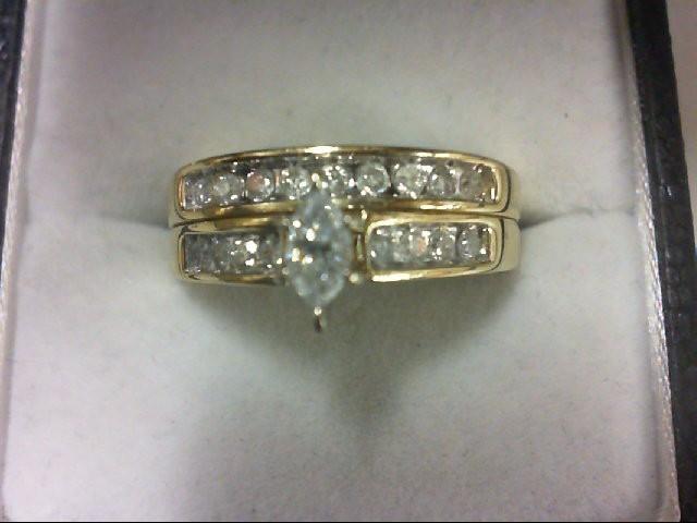 Lady's Diamond Wedding Set 18 Diamonds .39 Carat T.W. 14K Yellow Gold 4.8g