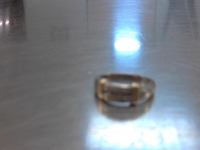 Gent's Diamond Fashion Ring 5 Diamonds .05 Carat T.W. 10K 2 Tone Gold 5.3g