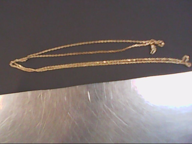 "24"" Gold Rope Chain 10K Yellow Gold 4.9g"