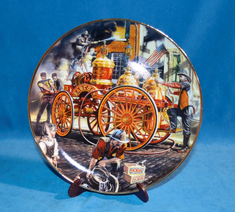 FRANKLIN MINT Collectible Plate 1890 CHEMICAL WAGON