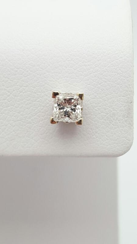 Gold-Diamond Earrings .32 CT. 14K White Gold 0.5g