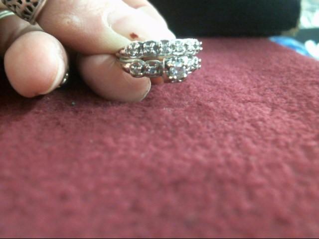 Lady's Diamond Wedding Set 11 Diamonds .38 Carat T.W. 14K White Gold 3.6dwt
