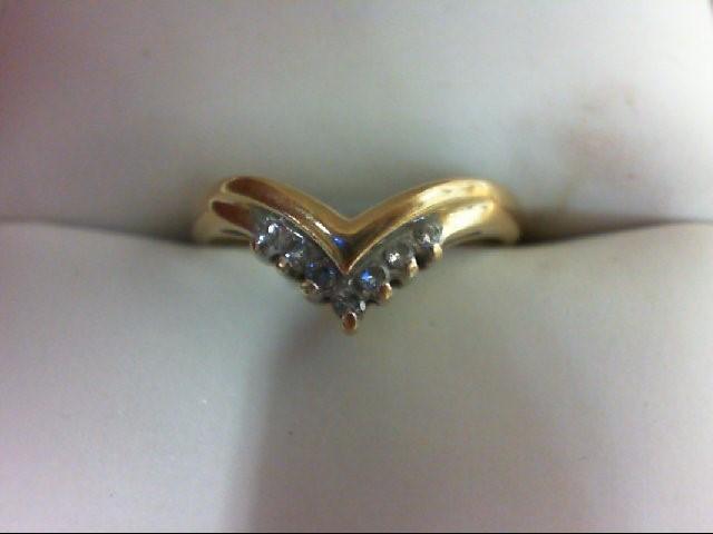 Lady's Diamond Wedding Band 7 Diamonds 0.09 Carat T.W. 14K Yellow Gold 1.8g Size