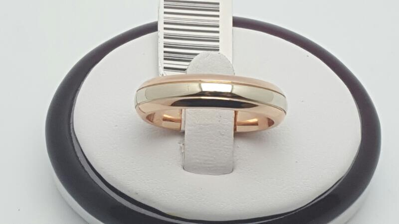 Gent's Gold Wedding Band 14K 2 Tone Gold 9.7g Size:10.5