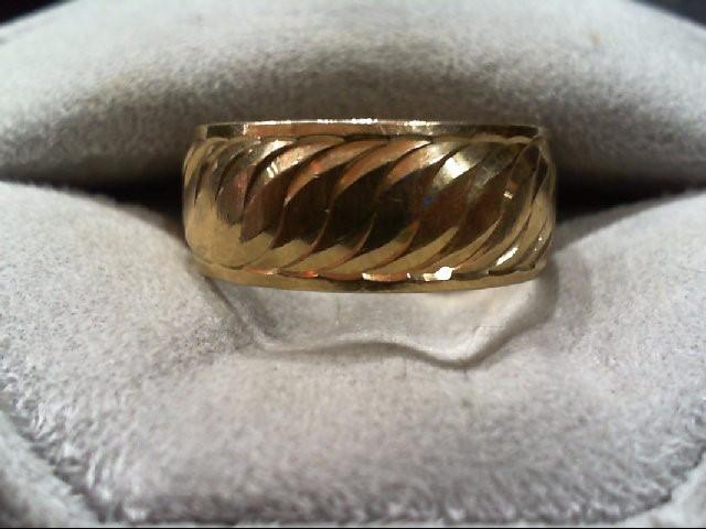 Lady's Gold Wedding Band 10K Yellow Gold 5.1g Size:9