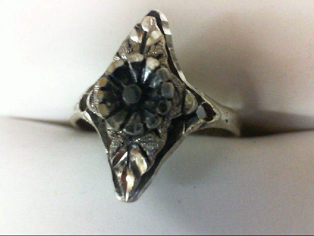 Lady's Silver Ring 925 Silver 2.1g Size:6.5