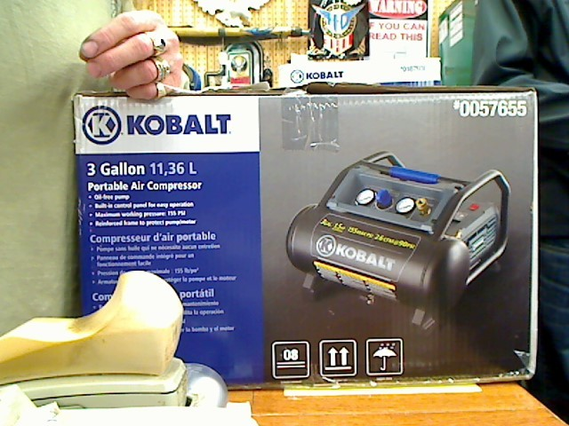 KOBALT TOOLS Air Compressor 0057655