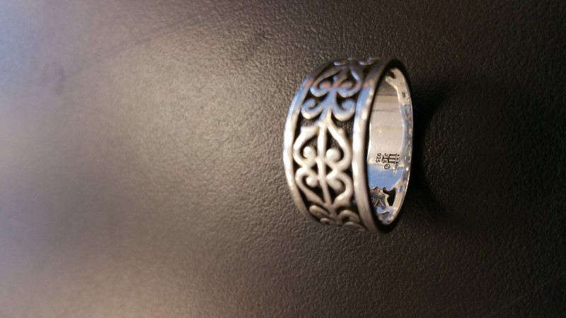 Lady's Silver Ring 925 Silver 5.4g Size:8