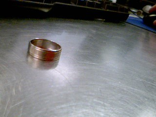 Gent's Gold Wedding Band 10K White Gold 3.3g