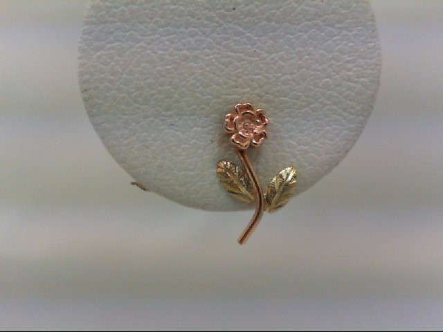 Gold Earrings 10K Tri-color Gold 0.6g