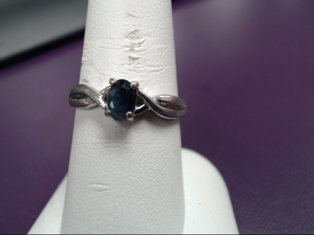 Blue Stone Lady's Silver & Stone Ring 925 Silver 2.5g