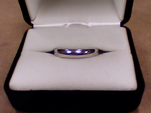 Gent's Gold Wedding Band 10K White Gold 4.2g Size:11