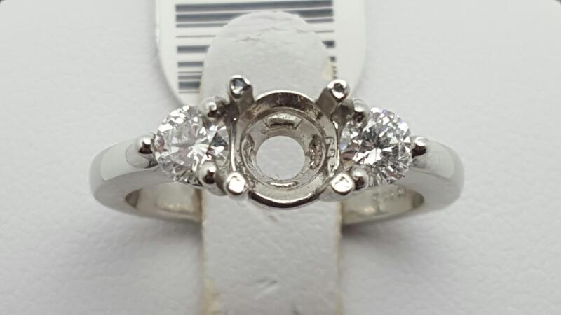 Lady's Platinum-Diamond Wedding Band 2 Diamonds .50 Carat T.W. 950 Platinum 6.5g