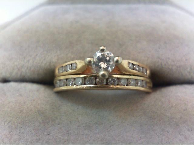 Lady's Diamond Wedding Set 20 Diamonds .61 Carat T.W. 14K Yellow Gold 4.1g