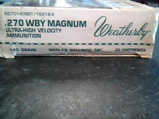 WEATHERBY Ammunition 270 AMMUNITION