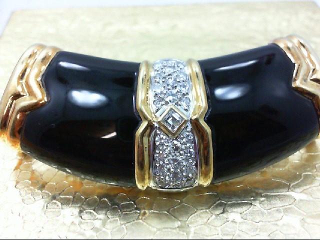 Gold-Multi-Diamond Pendant 23 Diamonds .73 Carat T.W. 18K Yellow Gold 25.7g