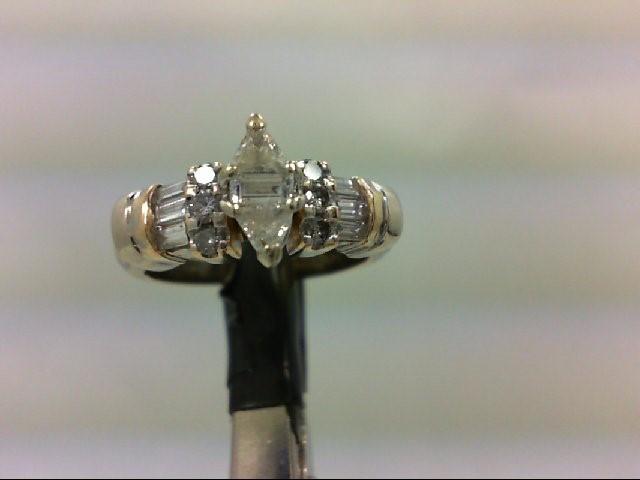 Lady's Diamond Wedding Band 15 Diamonds 1.11 Carat T.W. 14K Yellow Gold 5.05g