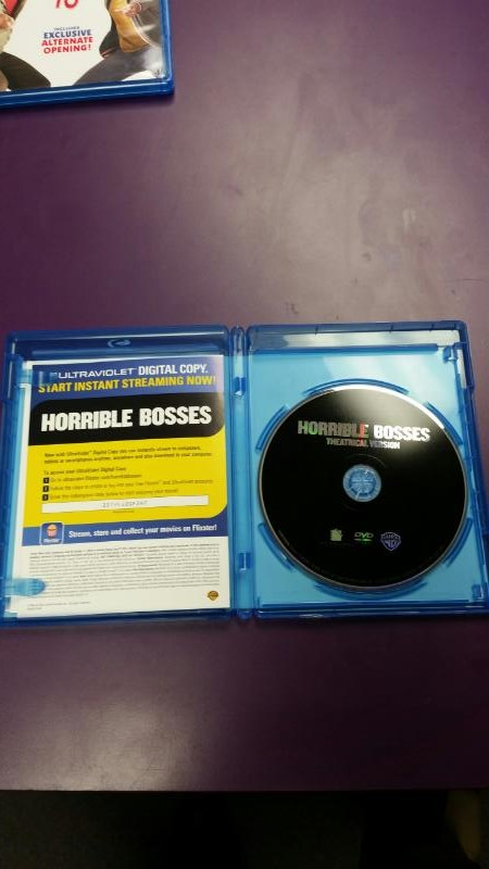 BLU-RAY MOVIE HORRIBLE BOSSES TOTALLY INAPPROPRIATE EDITION