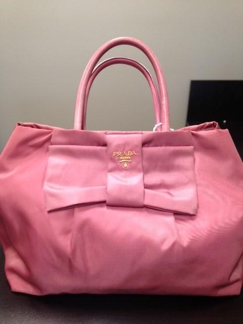 PRADA Handbag TESSUTO BOW TOTE