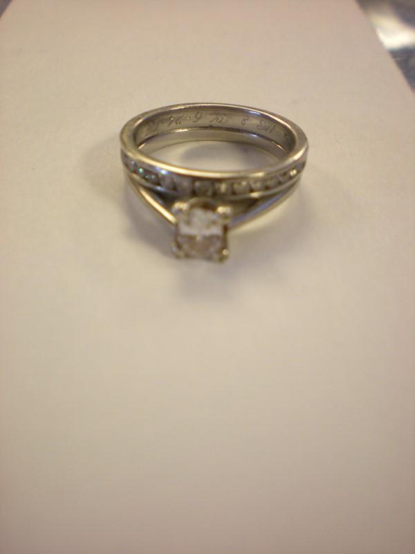 Lady's Diamond Solitaire Ring 14 Diamonds .59 Carat T.W. 14K White Gold 5g