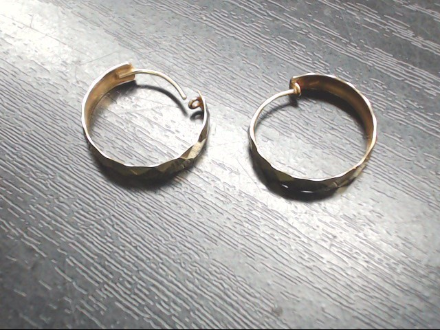 Gold Hoop Earrings 14K Yellow Gold 1.1g