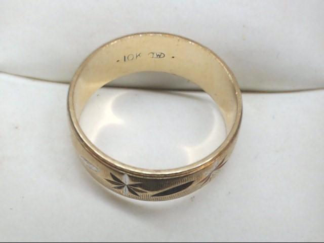 Lady's Gold Wedding Band 10K Yellow Gold 2.5g Size:4.75