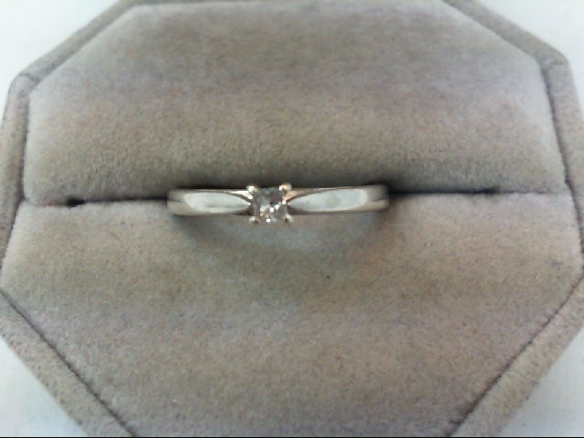 Lady's Silver-Diamond Ring .10 CT. 925 Silver 2.4g