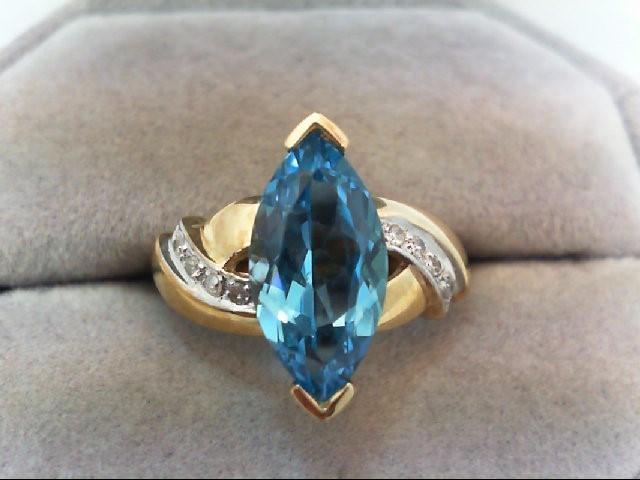 Lady's Diamond Fashion Ring 8 Diamonds .08 Carat T.W. 10K Yellow Gold 3.3g