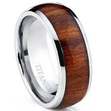 GENTS TITANIUM RING WITH REAL WOOD CENTER