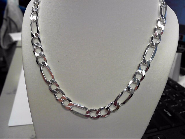 """24"""" Silver Figaro Chain 925 Silver 47.48g"""
