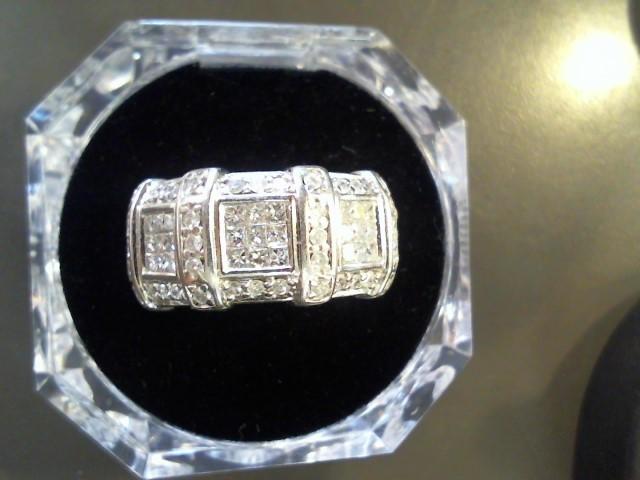 Lady's Gold-Diamond Anniversary Ring 55 Diamonds 1.91 Carat T.W. 14K White Gold