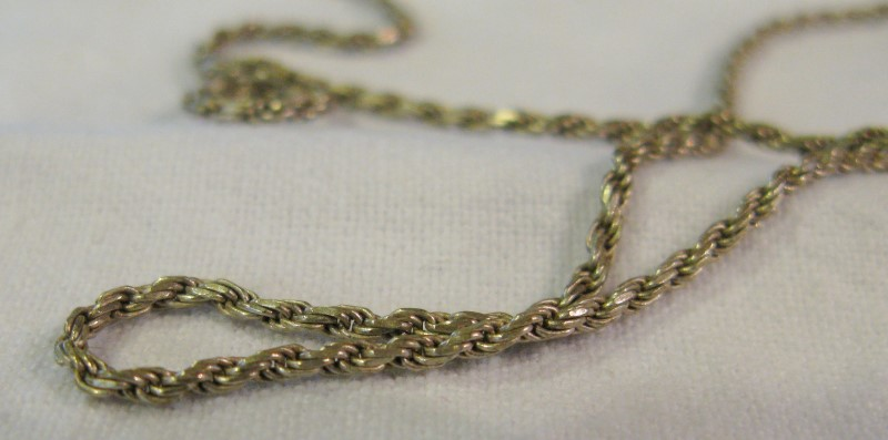 """24"""" Silver Rope Chain 1.5mm 925 Silver 4.4dwt"""