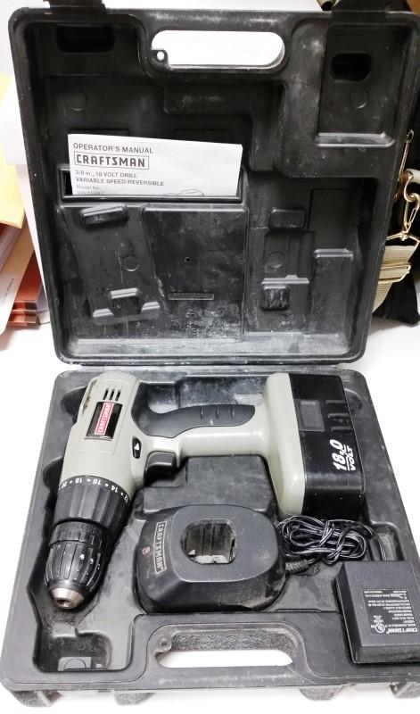 CRAFTSMAN 130260001 18V CORDLESS DRILL