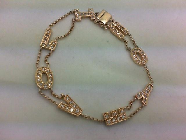 Synthetic Cubic Zirconia Silver-Stone Bracelet 925 Silver 9.1g