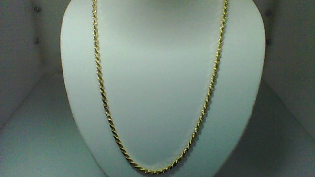 Gold Rope Chain 14K Yellow Gold 22.7g